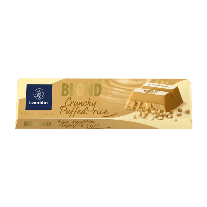 Leonidas Blond Chocolate and Puffed Rice Bar