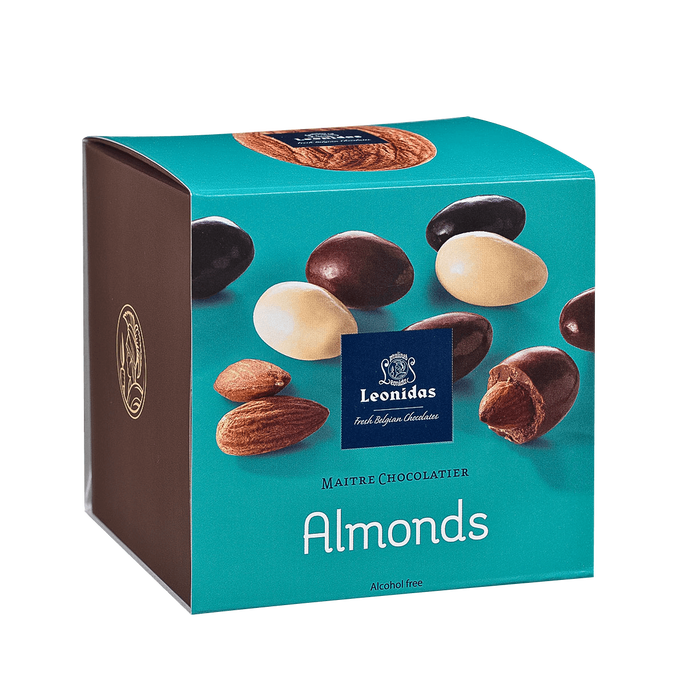 Leonidas Cube of Almonds, 200 g