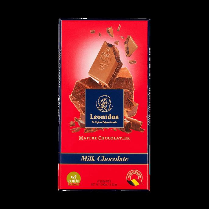 Leonidas 30% Milk Chocolate Tablet, 5 x 100 g
