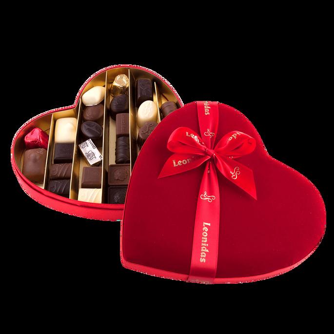 Leonidas Fluwelen Hart met Chocolade, 28 st