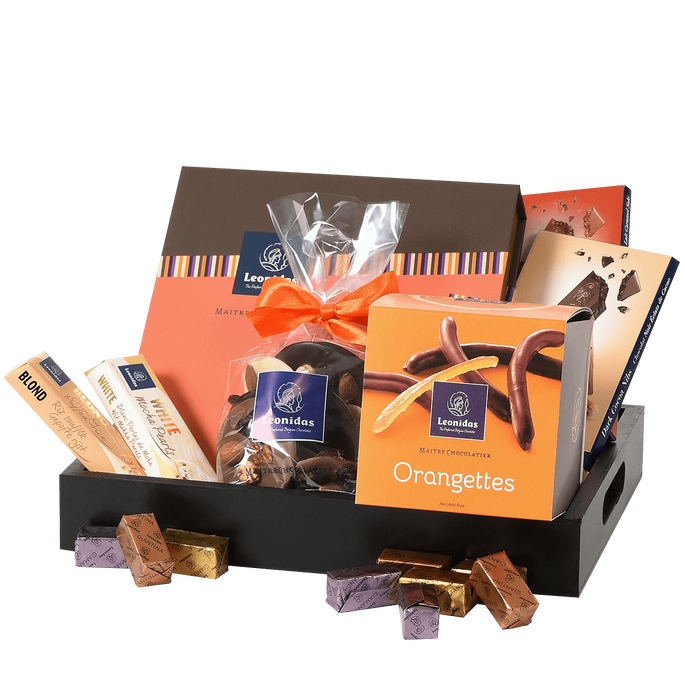Leonidas Klassischer Geschenkkorb voller Schokoladen Leckereien