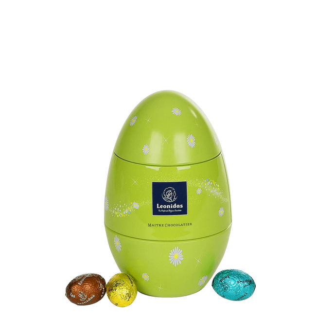 Leonidas Metal egg with Easter eggs - 350g