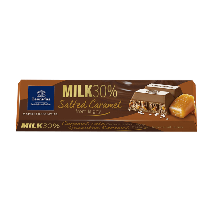 Leonidas Milk Chocolate and Salted Caramel Bar