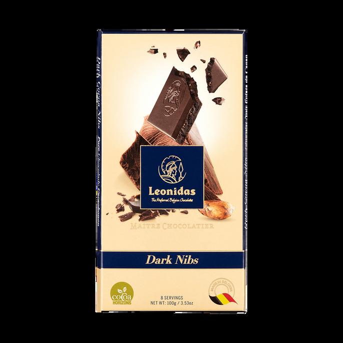 Leonidas Tablet Pure Chocolade Nibs