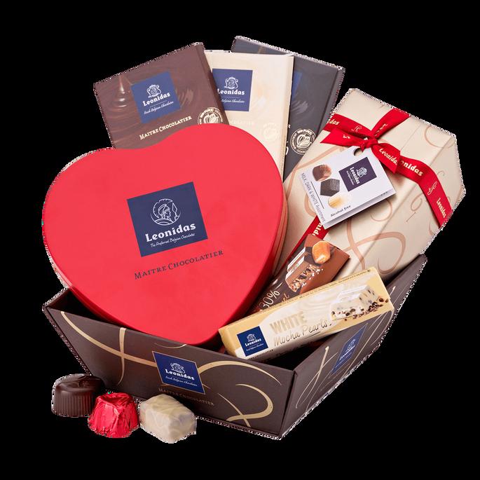 Leonidas Geschenkmand Romantische Chocolade